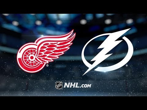 Detroit Red Wings Vs. Tampa Bay Lightning | NHL Game Recap | October 26, 2017 | HD