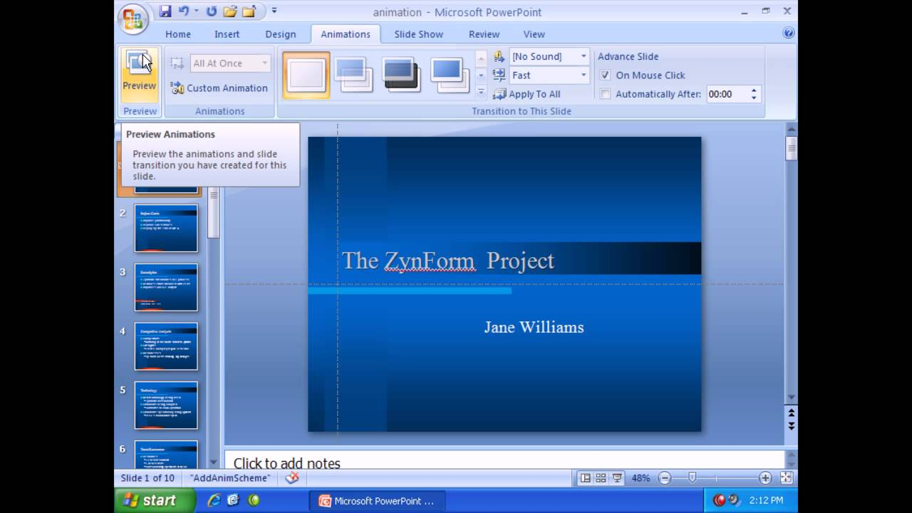 Microsoft powerpoint 2007 animation effects youtube microsoft powerpoint 2007 animation effects toneelgroepblik Images