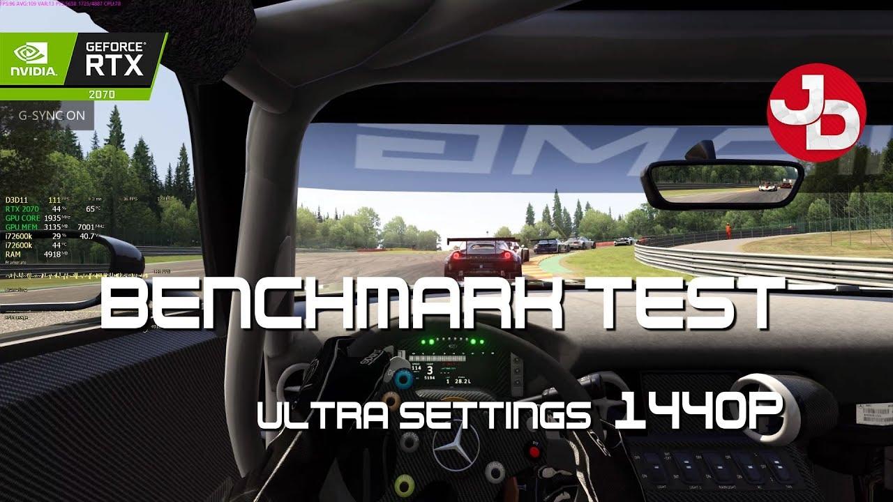 Assetto Corsa Benchmark Test   Ultra settings   RTX 2070 8gb