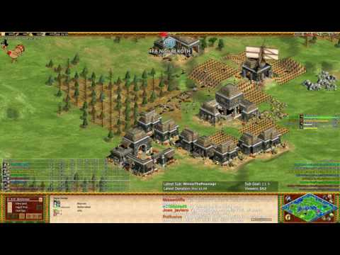AoE2 - King Of The Hill! Nomad! Free for all!