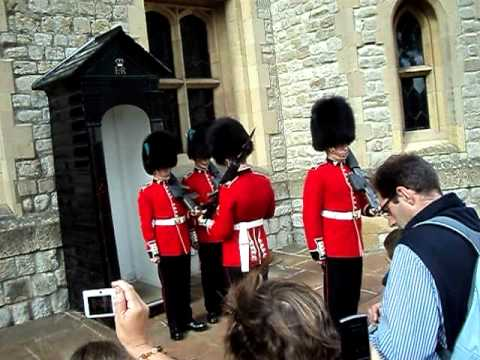 Changing of Guards at Crown Jewels in London