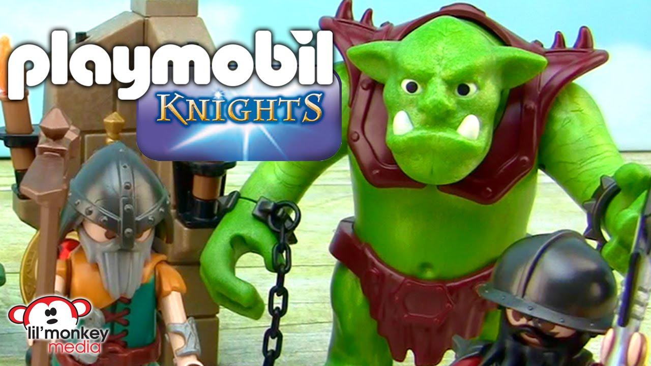 Dwarf Ranger with Antler B Playmobil to Knight Gnome Dwarf Troll Magic RARE