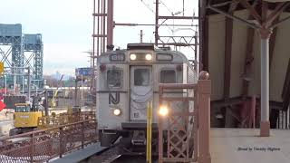 NJ Transit and AMTRAK Passenger Trains in Newark, New Jersey 2017