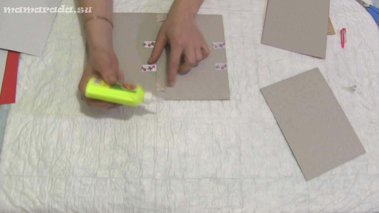 Открытка перевертыш из бумаги пошагово