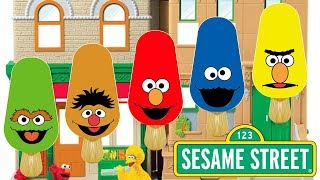 Finger Family Sesame Street Elmo Bert & Ernie Cookie Monster Ice Cream Nursery Rhyme Song For Kids