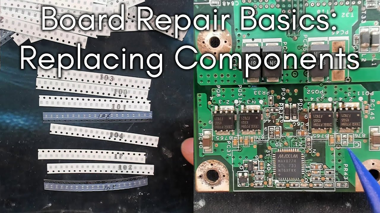 Board Repair Basics #11 - Finding replacement components