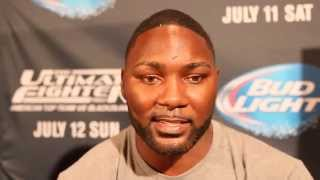 Anthony Johnson at UFC 189: I hope Daniel Cormier keeps the belt after Alex fight