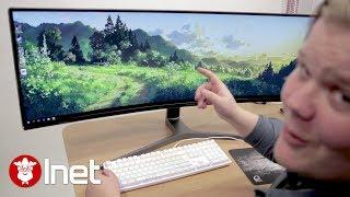Världens bredaste gamingskärm!? Vi kikar på Samsungs monster!