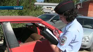 Видео: полиция Саратова задержала бывалого преступника, угнавшего ржавую машину