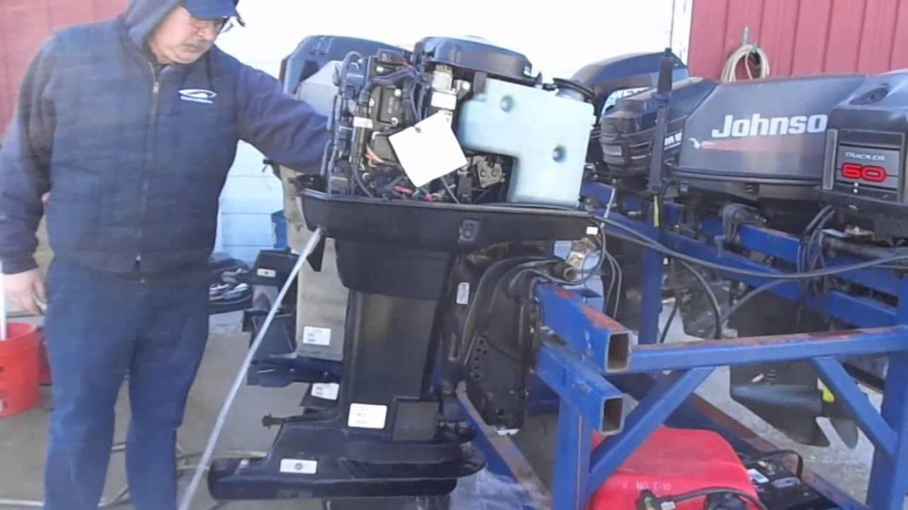"Mercury 25 Hp Outboard >> 6M4G34 Used 2004 Mercury Marine 60ELPT Bigfoot 60HP Remote Outboard Boat Motor 20"" - YouTube"