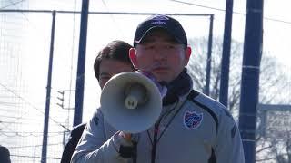 2018年1月13日、FC東京チーム始動日でのチームスタッフの石川直宏、長谷...