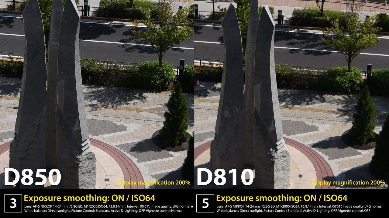 Comparison of image quality Nikon D850 and D810 - YouTube