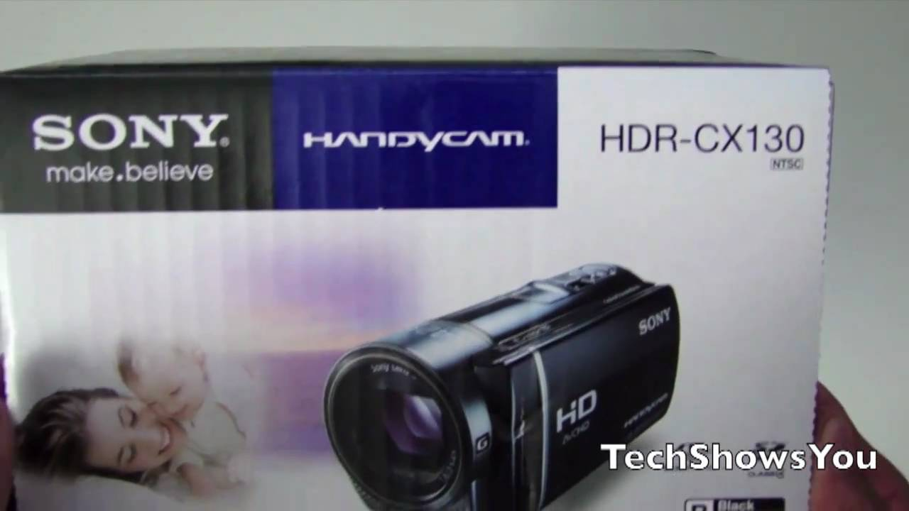 sony hdr cx130 camcorder unboxing youtube rh youtube com Sony Handycam HDR SR5 32GB HD Handycam Camcorder Sony HDR CX430V