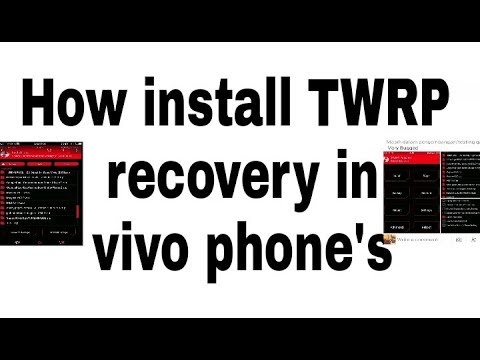 How install TWRP recovery vivo phones without root