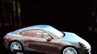 Лазерное шоу на Porsche Cayman