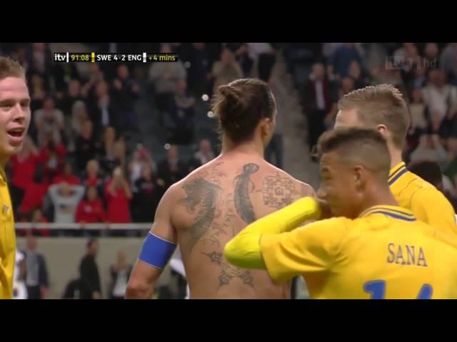 [HD] Ibrahimovic amazing goal vs England [English commentary]