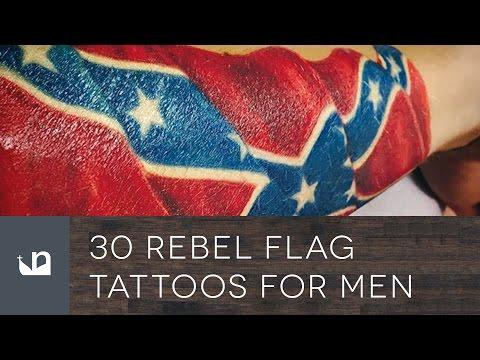 30 Rebel Flag Tattoos For Men