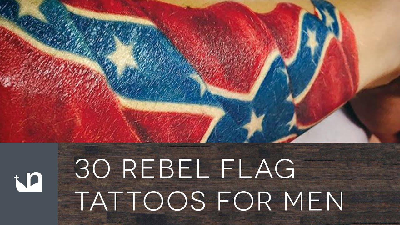 30 Rebel Flag Tattoos For Men – American Revelry Design Ideas