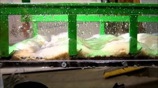 Martin Prospecting Ms 46 Glass Gold Sluice Box Set Up Test 1