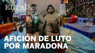 #MARADONA | Afición de luto por Maradona