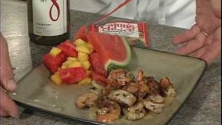 Shrimp Scampi With Mango Watermelon Salad
