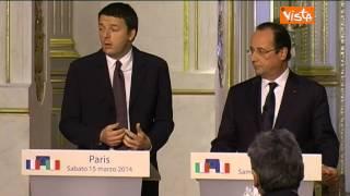 RENZI: PARLO IN ITALIANO PERCHE' IL MIO FRANCESE C'EST PAS BON