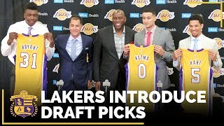 Lakers Introduce Kyle Kuzma, Josh Hart and Thomas Bryant