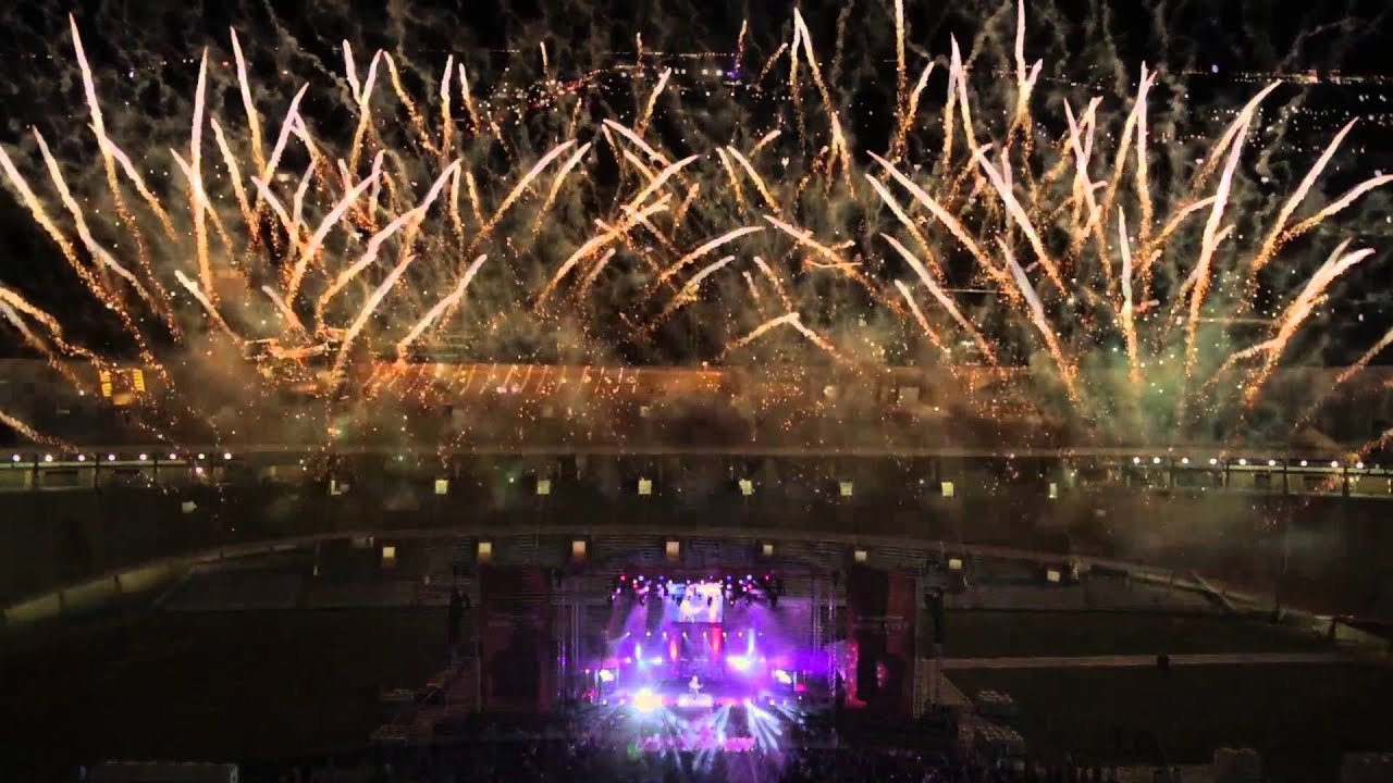 The Best Mattress >> Concert Pyrotechnics Finale - YouTube