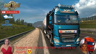 Euro Truck Simulator 2 (1.36)   DAF XF e6 Full Tuning by SCS Road to Salzburg Austria DLC Krone ProfiLiner Ownable Trailer by SCS Software Naturalux Graphics and Weather + DLC's & Mods  Support me please thanks Support me economically at the mail vanelli.