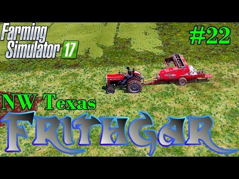 Let's Play Farming Simulator 2017, North West Texas #22: Tedders And Baling!