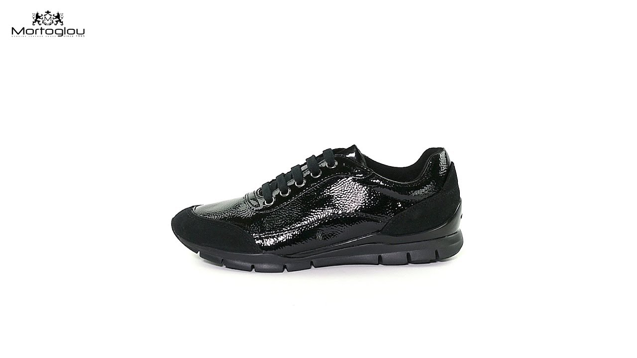 ef152681aa6 Γυναικεία Παπούτσια Casual Geox D84F2B Black Patent - YouTube