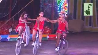 Amazing Riding Cycles by the Beautiful Women   Olympic Circus