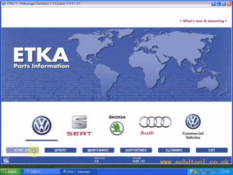 How to install ETKA Electronic Catalogue V7.5 for Audi VW Seat Skoda