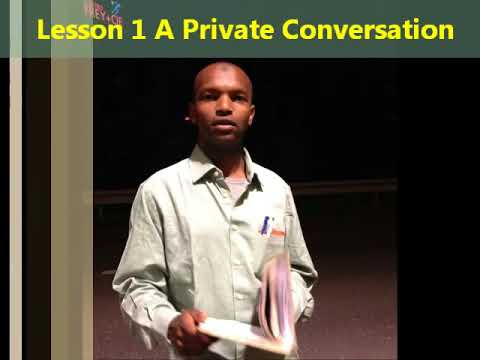 New Concept English Book into Somalian Language Practice and Progress Lesson 1
