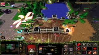 Warcraft 3 TFT - Anime Girls Defense #1