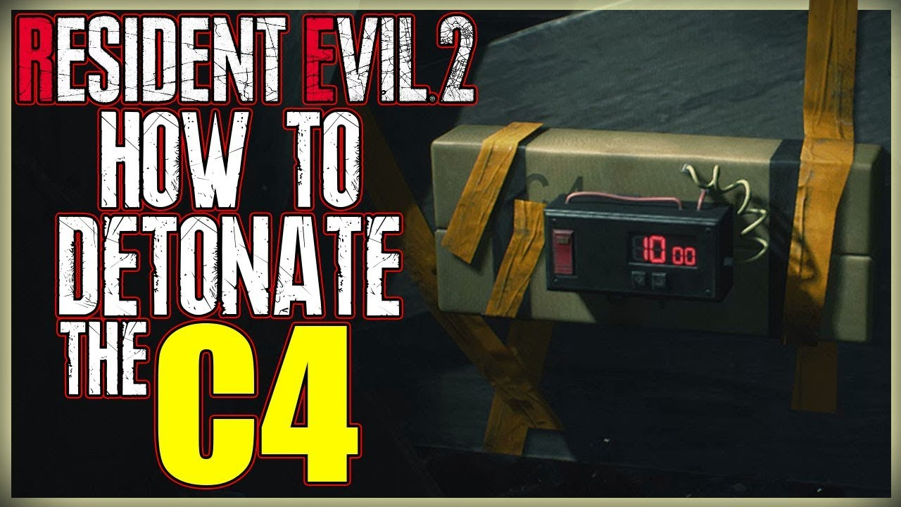 How To Blow Up The C4 Detonate The C4 In West Storage Room Resident Evil 2 Remake Youtube