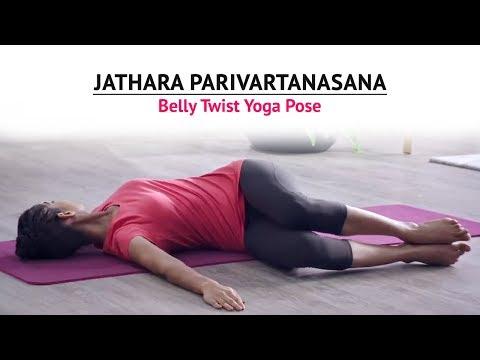 Jathara Parivartanasana | Belly Twist Yoga Pose | Steps | Benefits | Yogic Fitness