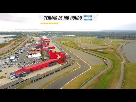 Drone shots Termas de Rio Hondo track Argentina for the WTCC 2017 rounds with Tom Coronel