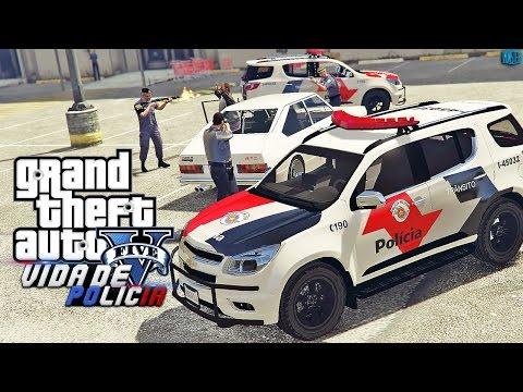 GTA V - Vida de Policia - Atendendo Roubo de Carro Artigo 155 | Ep.07