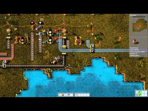 "Factorio Alpha 0.10 Gameplay | Rocket defence ""rush"" #2"