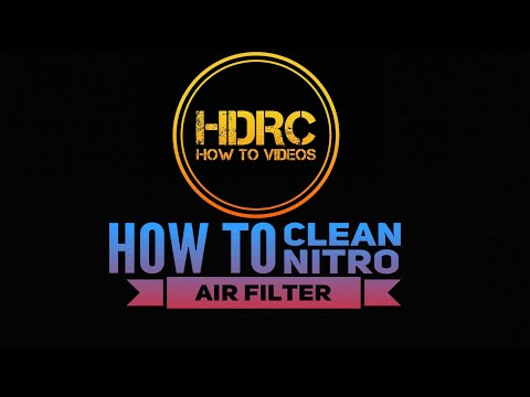 RC HOW TO COMPLETELY CLEAN NITRO AIR FILTER