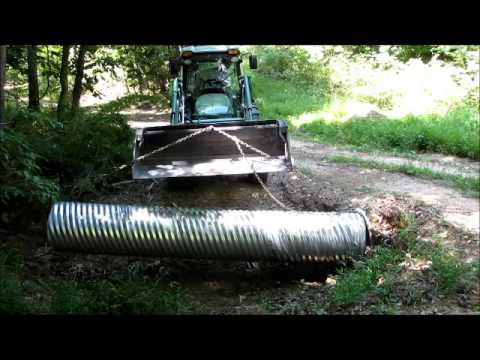 Extending Existing Driveway Culvert John Deere 4720 Youtube