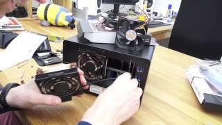 Synology DiskStation DS1515+ Lüfter tauschen / ersetzen gegen leisere Noctua
