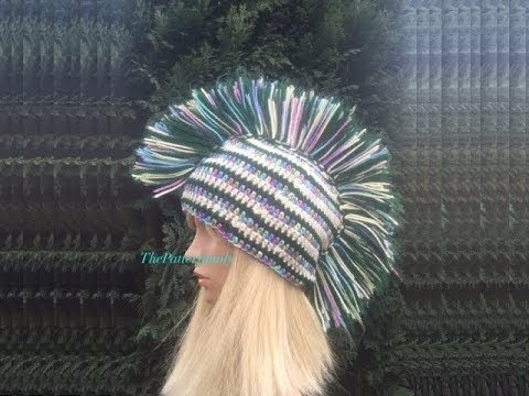 How To Crochet a Mohawk Hat Pattern  435│by ThePatternFamily - YouTube 2c88f7478e3