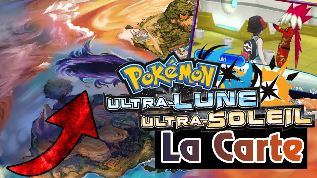 carte pokemon lune et soleil LA CARTE DE POKEMON ULTRA SOLEIL & ULTRA LUNE   YouTube