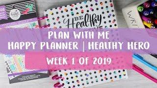 Happy Planner | Plan With Me | Healthy Hero | Week 1