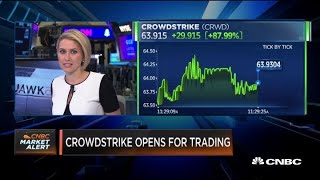 CrowdStrike begins trading at the Nasdaq