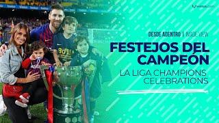 Desde adentro: el festejo de Messi tras ganar La Liga 2018/19