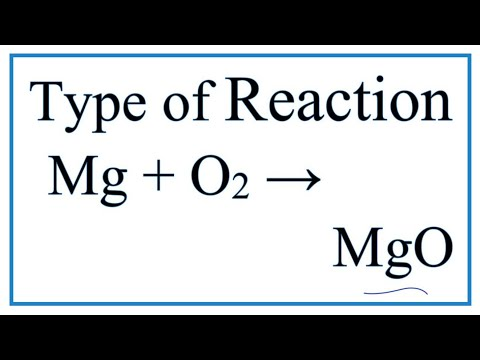 Type Of Reaction For Mg + O2 = MgO