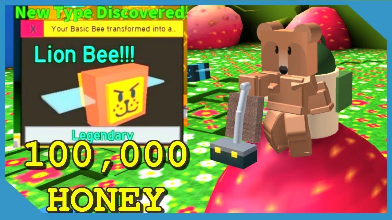 Getting 100,000 Honey + New Legendary Bee - Roblox Bee ...